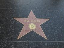 Αστέρι του Paul Gilbert στο hollywood Στοκ φωτογραφία με δικαίωμα ελεύθερης χρήσης