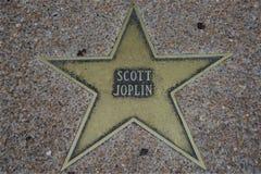 Αστέρι του Scott Joplin, περίπατος του Σαιντ Λούις της φήμης στοκ φωτογραφία με δικαίωμα ελεύθερης χρήσης