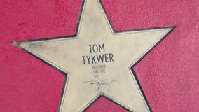 Αστέρι του Tom Tykwer στα αστέρια λεωφόρων der, περίπατος της φήμης στο Βερολίνο απόθεμα βίντεο