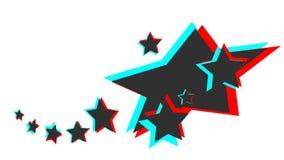 Αστέρι τρισδιάστατο ελεύθερη απεικόνιση δικαιώματος