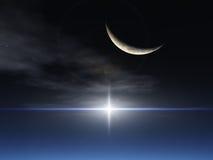 αστέρι φεγγαριών φαντασία&si ελεύθερη απεικόνιση δικαιώματος