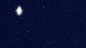 Αστέρι φωτεινό στον ουρανό που δείχνει τη γέννηση του Ιησούς Χριστού, Χριστούγεννα ελεύθερη απεικόνιση δικαιώματος