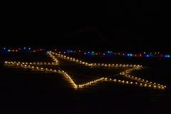 Αστέρι φω'των Χαρούμενα Χριστούγεννας Στοκ Εικόνες