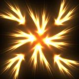 Αστέρι φλογών Στοκ φωτογραφίες με δικαίωμα ελεύθερης χρήσης