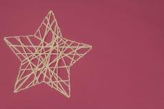 Αστέρι χαιρετισμού Χριστουγέννων Στοκ Εικόνα