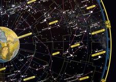 αστέρι χαρτών αστερισμού Στοκ Εικόνες