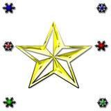 αστέρι χιονιού ανασκόπησης Στοκ Φωτογραφίες
