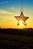 Αστέρι Χριστουγέννων και φωτεινός ήλιος Στοκ Εικόνα