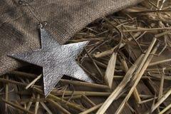 Αστέρι Χριστουγέννων σε ένα μέταλλο Στοκ φωτογραφία με δικαίωμα ελεύθερης χρήσης