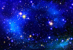 Αστέρι Χριστουγέννων στο νυχτερινό ουρανό Στοκ Φωτογραφία