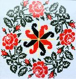 Αστέρι alatyr ` σχεδίων ` που ράβεται με έναν σταυρό Στοκ φωτογραφία με δικαίωμα ελεύθερης χρήσης