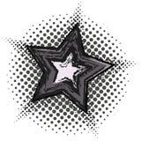 Αστέρι Grunge με το ημίτονο σχέδιο Στοκ Φωτογραφία