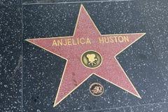Αστέρι Huston Anjelica στον περίπατο Hollywood της φήμης Στοκ φωτογραφία με δικαίωμα ελεύθερης χρήσης