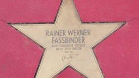 Αστέρι Rainer Werner Fassbinder στα αστέρια λεωφόρων der, περίπατος της φήμης στο Βερολίνο φιλμ μικρού μήκους