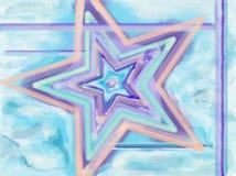 Αστέρι Watercolor Στοκ φωτογραφία με δικαίωμα ελεύθερης χρήσης
