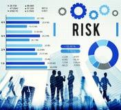 Ασταθής έννοια ασφάλειας ασφάλειας διαχείρησης κινδύνων Στοκ Φωτογραφία