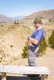 Αστεία άποψη πάρκων κοιλάδων φεγγαριών ατόμων μόνιμη, απότομοι βράχοι Βολιβία Λα Παζ Στοκ φωτογραφίες με δικαίωμα ελεύθερης χρήσης