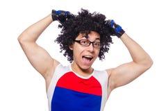 Αστεία άσκηση ατόμων που απομονώνεται Στοκ Εικόνες