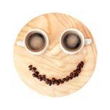 Αστεία έννοια διαλειμμάτων στο ξύλινο υπόβαθρο που απομονώνεται στο μόριο Στοκ Εικόνες