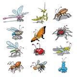 αστεία έντομα Στοκ Εικόνες