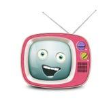 Αστεία αναδρομική TV Στοκ Εικόνες