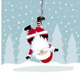 Αστεία απεικόνιση Χριστουγέννων με την ένωση Santa ελεύθερη απεικόνιση δικαιώματος