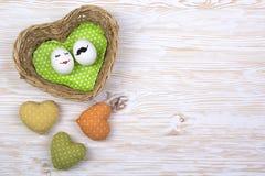 Αστεία αυγά με τα χρωματισμένα πρόσωπα Στοκ Εικόνα