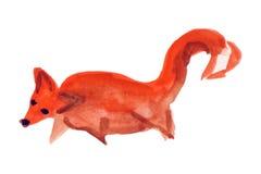 Αστεία αλεπού (ζώα συλλογής) το σχέδιο ενός παιδιού Στοκ φωτογραφία με δικαίωμα ελεύθερης χρήσης