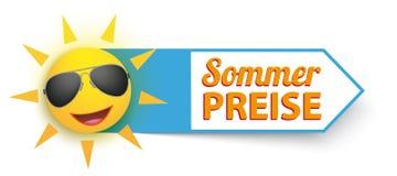 Αστεία γυαλιά ηλίου Sommer Preise ήλιων Στοκ Εικόνα