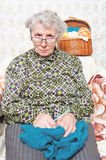 Αστεία γυναίκα πορτρέτου Στοκ Εικόνα