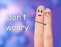 Αστεία δάχτυλα Στοκ εικόνα με δικαίωμα ελεύθερης χρήσης