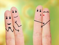 Αστεία δάχτυλα Στοκ Εικόνες