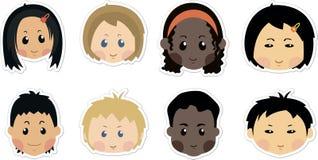 Αστεία εικονίδια παιδιών Στοκ εικόνα με δικαίωμα ελεύθερης χρήσης