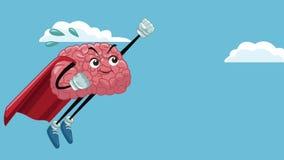 Αστεία ζωτικότητα κινούμενων σχεδίων HD εγκεφάλου απεικόνιση αποθεμάτων