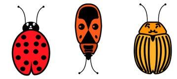 Αστεία ζωύφια κινούμενων σχεδίων Στοκ εικόνα με δικαίωμα ελεύθερης χρήσης
