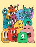 Αστεία κάρτα τεράτων κινούμενων σχεδίων Στοκ Εικόνες