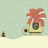Αστεία κάρτα Χριστουγέννων Στοκ Εικόνα