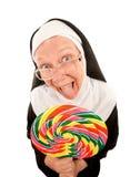 αστεία καλόγρια lollipop στοκ φωτογραφία