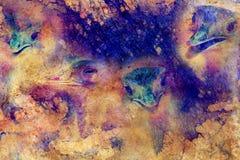 Αστεία κεφάλια στρουθοκαμήλων ΟΝΕ στο γραφικό δομημένο υπόβαθρο Στοκ εικόνες με δικαίωμα ελεύθερης χρήσης
