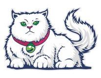 αστεία κινούμενα σχέδια μασκότ γατών Στοκ Εικόνες