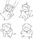 Αστεία κινούμενα σχέδια μόσχων Στοκ Εικόνες