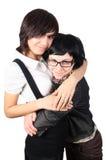 αστεία κορίτσια δύο στοκ φωτογραφίες με δικαίωμα ελεύθερης χρήσης