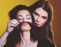Αστεία κορίτσια εφήβων Στοκ Εικόνες