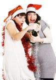 αστεία κορίτσια σαμπάνια&sigm Στοκ φωτογραφία με δικαίωμα ελεύθερης χρήσης