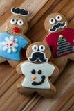Αστεία μπισκότα μελοψωμάτων διακοπών Στοκ Εικόνες
