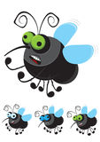 Αστεία μύγα κινούμενων σχεδίων Στοκ Εικόνα