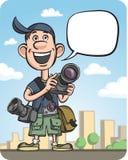 Αστεία ομιλία φωτογράφων ελεύθερη απεικόνιση δικαιώματος