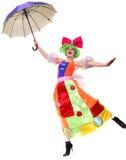 αστεία ομπρέλα Στοκ Εικόνες