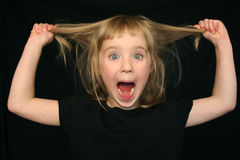 αστεία παραγωγή κοριτσιώ& Στοκ φωτογραφία με δικαίωμα ελεύθερης χρήσης