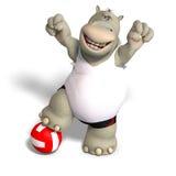 αστεία πετοσφαίριση παιχνιδιών hippo διανυσματική απεικόνιση